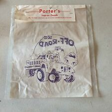 """VINTAGE PORTER'S IRON-ON DECALS """" DO IT...OFF-ROAD"""