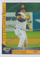 2016 Burlington Bees Winston Lavendier RC Rookie Angels Minor