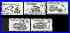 CZECHOSLOVAKIA 1988 STAMP SHOW MNH TRAINS, LOCOMOTIVES, CARS, TRANSPORT