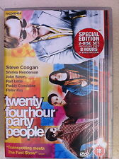 Steve Coogan 24 HOUR PARTY PEOPLE Tony Wilson Factory Records Rare 2-Disc UK DVD