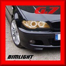 BIMLIGHT 7008 BERNSTEIN Neon CCFL Standlichtringe G7 BMW 3er E46 Cabrio Facelift