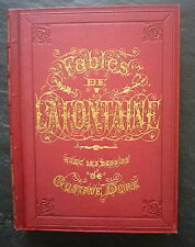 LA FONTAINE: Fables, 1868, cartonnage éditeur, illustrations de Gustave DORE