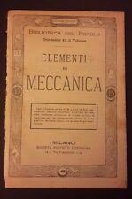 ELEMENTI DI MECCANICA N 49 FINE '800 BIBLIOTECA DEL POPOLO