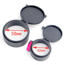 Hunting Dustproof 58mm&42mm Scope Cover Lens Covers Caps for 50mm Rifle Scope