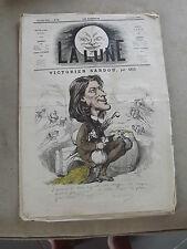 journal La lune Numéro 32 du 14 /10/ 1866 ( victirien sardou ) par Gill