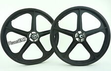 "Skyway 20"" TUFF WHEELS II SET old school bmx sealed Mags BLACK  Made in the USA"