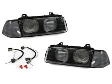 BMW E36 4D 3D DEPO Euro Glass Lens Ridges Headlights+Smoke Corner Signal Lights