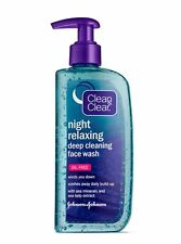 Clean - Clear Night Relaxing Deep Cleaning Face Wash Oil Free, 8 oz (Pack of 2)