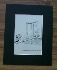 Dog Child Cartoon Print Norman Thelwell Clip Nails Bookplate 1964 8x10 Matted