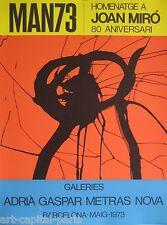 MIRO JOAN AFFICHE TIRÉE EN LITHOGRAPHIE PRODUITE EN 1973 LITHOGRAPHIC POSTER