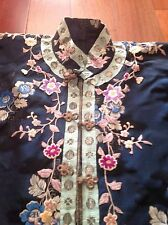 Antique WWII Era Chinese Silk Embroidered Ladies Jacket