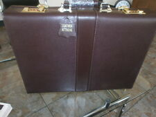 "EXECUTIVE LEATHER 3.5"" BRIEFCASE ATTACHE COMPUTER LAPTOP CASE PIGSKIN LINED"