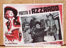 PARTITA D'AZZARDO fotobusta poster James Stewart Dietrich Destry Rides Again