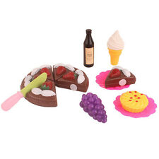 Birthday Party Cake Set Role Pretend Play Kids Kitchen Food Toy Pink Food
