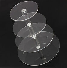 Round Crystal Clear Acrylic Cupcake Stand Wedding Display Cake Tower 7Tier WS