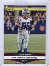 2016 Panini Instant Football #418 David Irving Dallas Cowboys Rookie Card /95