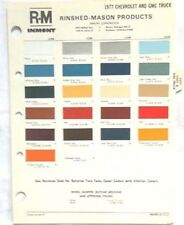 1977 CHEVROLET AND GMC TRUCK R-M COLOR PAINT CHIP CHART ALL MODELS ORIGINAL