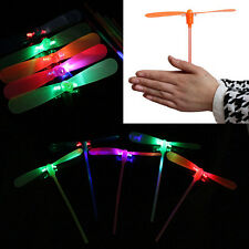 2Pcs LED Flying Dragonfly Helicopter Boomerang Frisbee flash Child Toy Gift HUAC