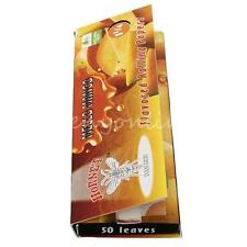 New DIY Hornet Mango Flavored Cigarette Rolling Papers 50 Leaves Glue