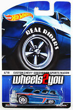 CUSTOM CHEVY GREENBRIER SPORTS WAGON - 2015 Hot Wheels Heritage w/ Real Riders