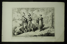 Bartolomeo.PINELLI:MICHELETTI,COSTUMI DEL REGNO DI NAPOLI.Tav.46.1816..Cm 42x27