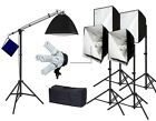 Pro 5 lights hair light Photo Studio Video continuous softbox lighting kit