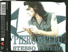 A6 cd single PIERO PELU' ( Litfiba ) STESSO FUTURO RAGA N ROLL BUENO