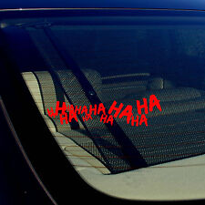 Joker Hahaha Serious Super Bad Evil Body Window Car Red Sticker Decal 7.5""