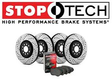 Audi A6 A7 Quattro Street Drilled & Slotted Front & Rear Brake Rotors Pads Kit