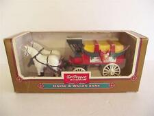 Dr Pepper Horse & Wagon Bank ERTL Collectibles Die Cast Metal NEW Happy Holidays