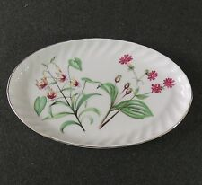 Royal Kent Bone China Staffordshire England Wildflower Oval Dresser Serving Tray