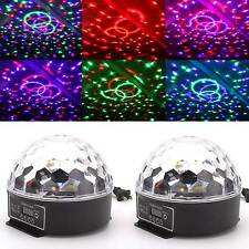 2pcs MAGIC Ball Stage Light Digital LED Lighting RGB Crystal Party DJ Club Show