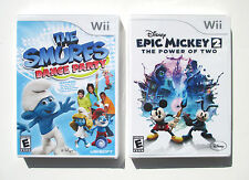 Disney Epic Mickey 2 + Smurfs Dance Party  Wii games  NEW   D1