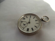a fine hallmarked silver cased fusee pocket watch - burdess of coventry