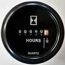Hour Meter 120 Volts AC, Round  Black Trim Ring PROG7473