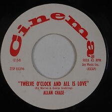 ALLAN CHASE: Twelve O'Clock and All is Love CINEMA DJ Promo HEAR
