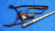 An antique Victorian six draw Wm Harris and Co, London brass telescope and case