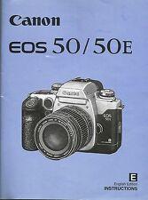 Canon EOS-50/EOS50E Libro De Instrucciones Original