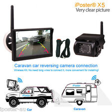 "2.4GHz HD Wireless CCD Camera 5"" Monitor Reverse For Horse Float CCD Monitor Kit"