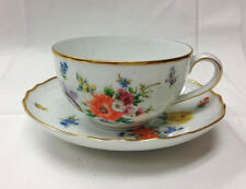 "HUTSCHENREUTHER ""DUCHESSE"" TEACUP & SAUCER FORM DRESDEN PORCELAIN NEW  GERMANY"