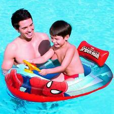 Spiderman Inflatable Kids Racing Car Boat Float Swimming Pool Toy Lounger Lilo