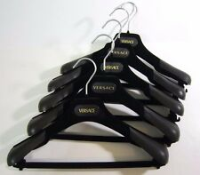 Lot of 5 Authentic VERSACE Velvet Hangers Designer Suit Jacket Branded ITALY