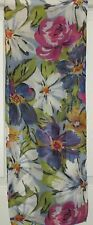 TERRIART Fuchsia, Blue, Green Exotic Flowers 58x10 Long Scarf-Vintage