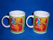 SET OF 2 DISNEY WINNIE THE POOH WITH TIGGER AND PIGLET COFFEE MUGS