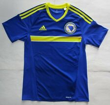 Men's Adidas Bosna I Hercegovina Home Soccer Jersey, New Blue Yellow FFBH Sz S