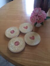 Sass & Belle Shabby Chic Jammy Biscuit Wooden Drinks Coasters Mats Reduced Sale