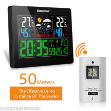 EU EXCELVAN Color Wireless Weather Station With Forecast Temperature Humidity