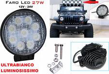 Faro supplementare LED Auto,Suv.12-24V universale.Faretto rotondo fendinebbia 27