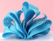"""2yd of Turquoise 1.5"""" Double Face Satin Ribbon 1.5"""" x 2 yards neatly wound"""