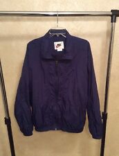 Nike Men's Windbreaker Jacket White Label Navy Blue Sz Large 920220 KL4
